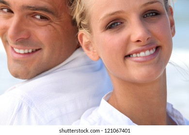 Faces of couple