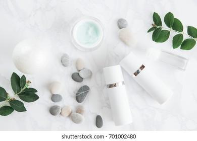 facial cream skin care tube pebble candle