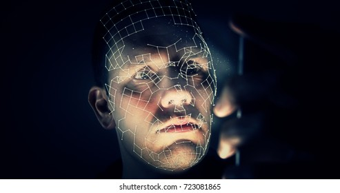 Facial Recognition Concept With Modern Smartphone