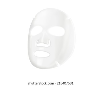 Facial sheet mask on white background.