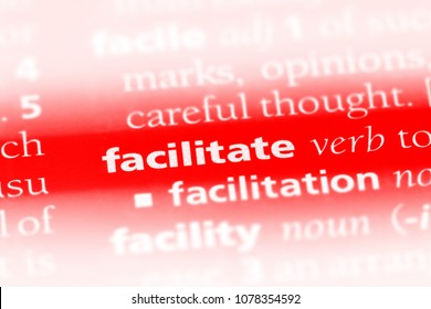 facilitate word in a dictionary. facilitate concept