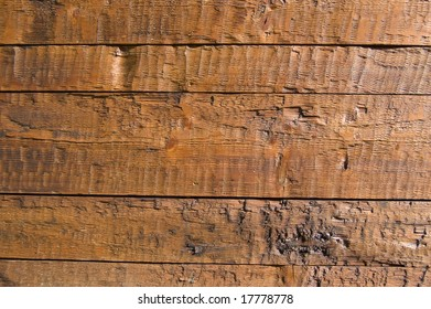 Facing of wooden boards