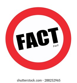 FACT black stamp text on white