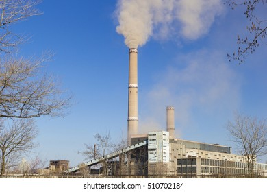 Factory Air pollution with smoke