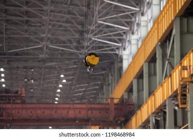 factory bridge crane in an enterprise