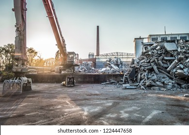 Factory building demolition