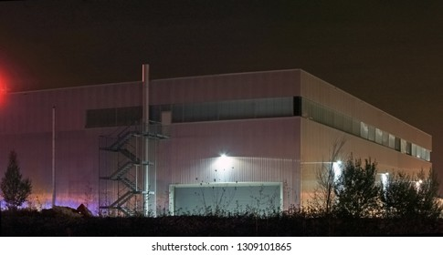 factory building at night