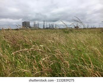 Factory buildings, Seaton Carew Sand Dunes, Hartlepool, England