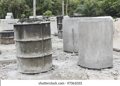 Factory of cement tubes in Thailand