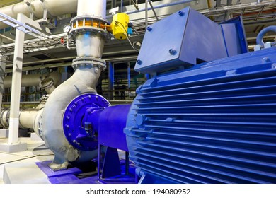 Factory equipment.  Electric motor of pumps