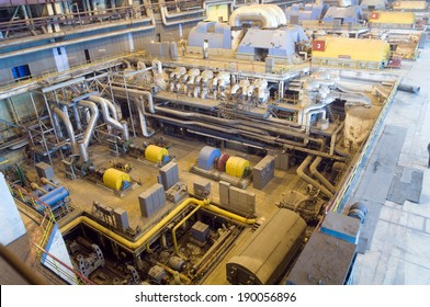 factory with equipment to produce fuel energy