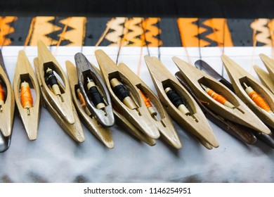 Factory of handmade fabrics in Inwa, in Myanmar