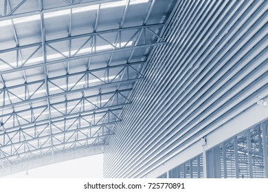 factory metal roof structure modern building architecture design concept