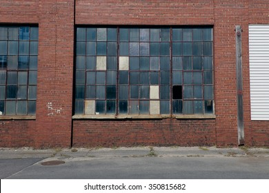 Factory with multicolor window panes