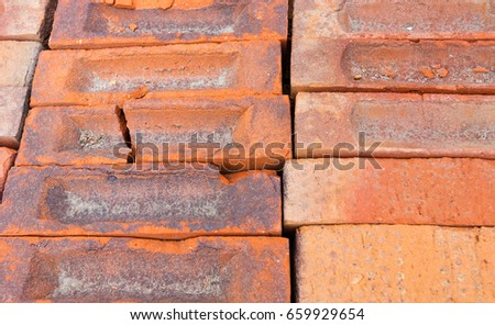 Factory Production Decorative Bricks Frame Bricks Stock Photo Edit
