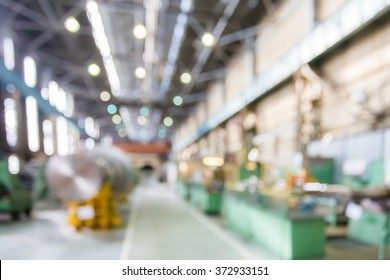 Factory shop in bokeh, defocused background