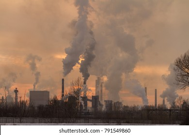 factory smoke pollution, environmental problems and air pollution