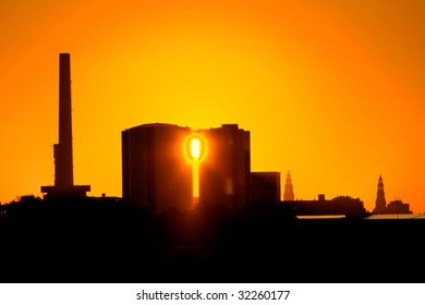 Factory Suikerunie Groningen at  sunrise