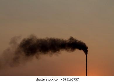 Factory toxic smoke