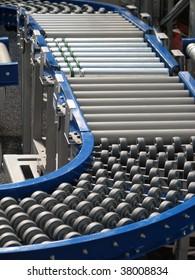 factory track. convey-er belt. industry track. conveyor belt.