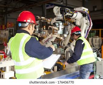 Werksarbeiter-Team für die Arbeit
