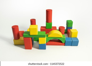 Factory-shaped block construction toy