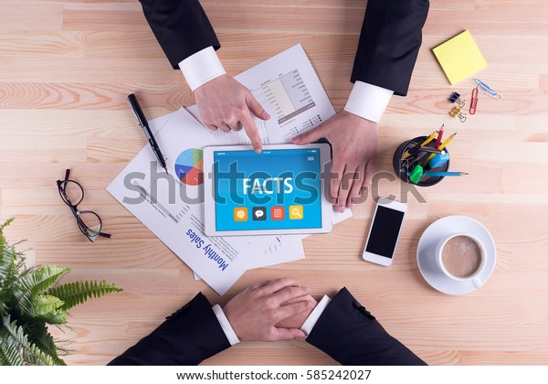 FACTS CONCEPT ON TABLET PC SCREEN