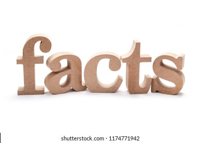 FACTS wood word on white background