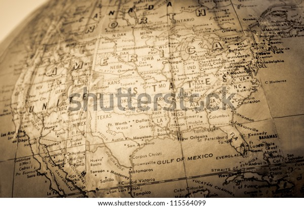 A faded colored  map