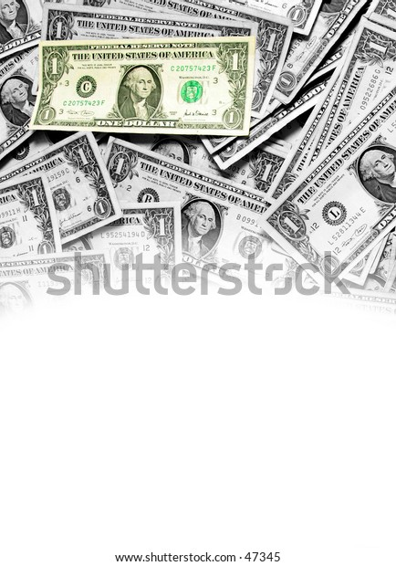 Faded Currency Background