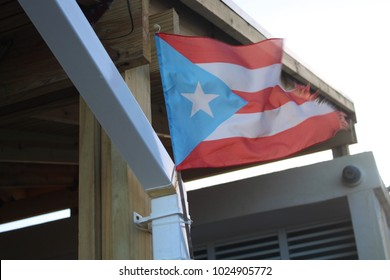 Faded and tattered Puerto Rican flag survives Hurricanes Irma and Maria
