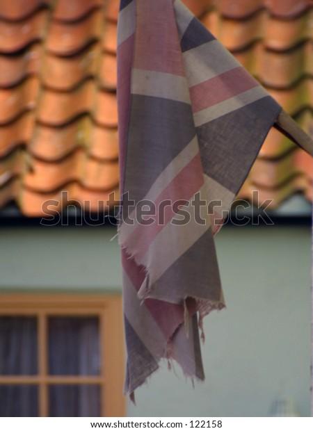Faded Union Jack flag