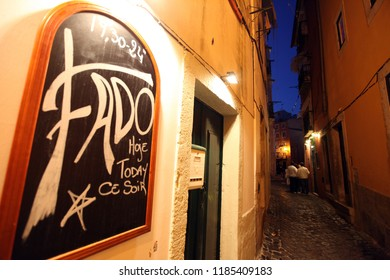 a fado Restaurant in the old town of Alfama in the city centre of Lisbon in Portugal in Europe.     Portugal, Lisbon, May, 2009