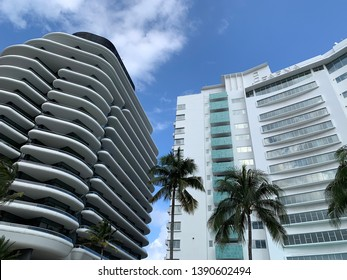 Faena Hotel And Faena House building facades in Miami Beach, Florida taken on April 28, 2019.