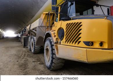 """FAGNANO OLONA, ITALY - APRIL 22: Construction of tunnel """"Pedemontana"""" in Lombardy (Italy), on April 22, 2013 in Fagnano Olona (VA), Italy."""
