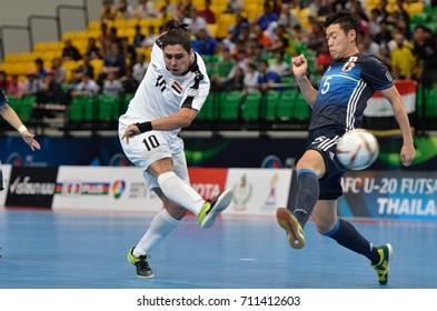 FAHAD METHAQ of IRAQ during AFC U20 FUTSAL CHAMPIONSHIP 2017 match IRAQ and JAPAN at Bangkok Arena Stadium on May22,2017 in Bangkok,Thailand.