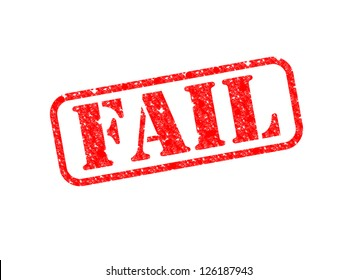 A 'Fail' Stamp over a white background.