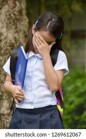 Failed Student Child Wearing Uniform