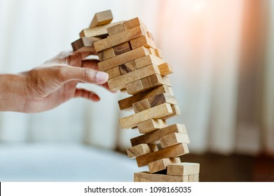 Fails Building Tower, Concept For Challenge And Fail In Business