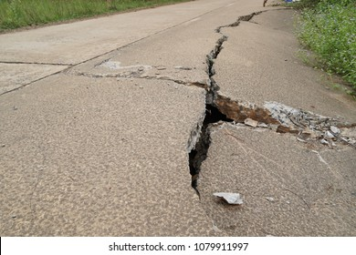 Failure of concrete surface road