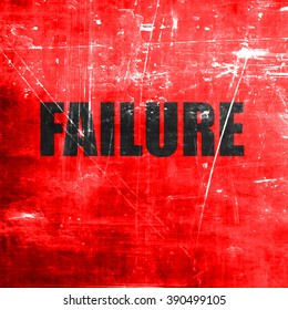 Failure sign with some smooth lines