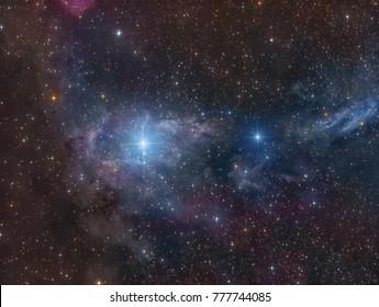 Faint Dust Clouds around the Star CE Cam