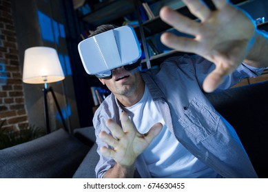 Fainted young guy traveling into other realities
