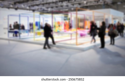 Fair show background. Intentionally blurred editing post production.