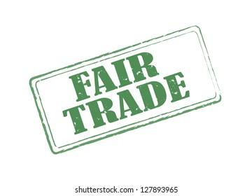 Fair trade rectangular stamp