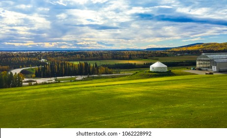 Fairbanks's landscape view from the Museum of North, Alaska