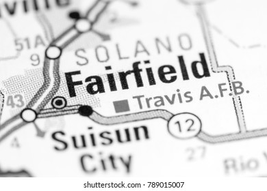 Fairfield California Usa On Map Stock Photo Edit Now 1012480093