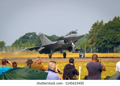 Fairford, Gloucestershire, UK - July 14th, 2018: Dassault Rafale Displays at Fairford International Air Tattoo 2018