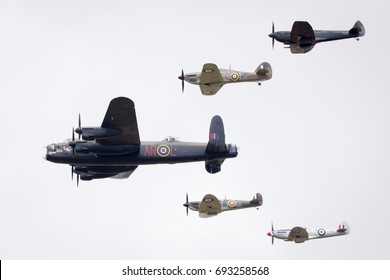 Fairford, Gloucestershire, UK - July 16th, 2017: Battle of Britain Memorial Flight at the Fairford International Air Tattoo 2017