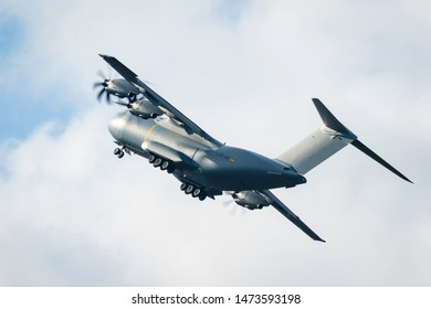 Fairford, Gloucestershire, UK - July 20th, 2019: Airbus A300M Atlas Global Express Displays at Royal International Air Tattoo